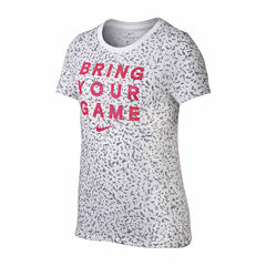 Nike Short Sleeve T-Shirt-Big Kid Girls