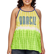 City Streets® High Neck Screen Tank Top - Juniors Plus