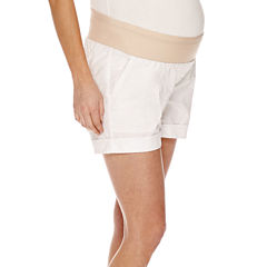a.n.a® Maternity Relaxed-Fit Poplin Shorts-Plus