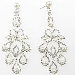 Vieste Rosa Brass Chandelier Earrings