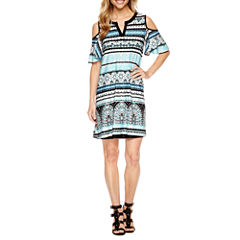 Alyx Cold Shoulder Shift Dress
