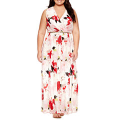 Dr Collection Sleeveless Maxi Dress-Plus