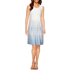 Perceptions Sleeveless A-Line Dress-Petites