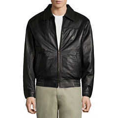 Vintage Leather Lambskin Bomber Jkt Leather Bomber Jacket