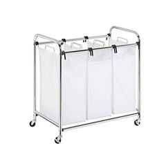 Honey-Can-Do® Chrome Heavy-Duty Triple Laundry Sorter