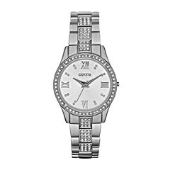 Womens Crystal-Accent Bracelet Watch