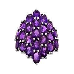Genuine Purple Amethyst Sterling Silver Ring