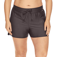 Zeroxposur Drawstring Solid Swim Shorts Plus