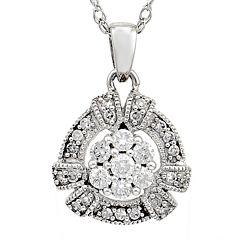 LIMITED QUANTITIES 1/3 CT. T.W. Diamond 14K White Gold Pendant Necklace