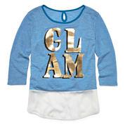 Total Girl® 3/4-Sleeve Graphic Tee