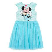 Disney Collection Minnie Mouse Cap-Sleeve Mesh Dress - Girls 7-16