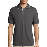 Claiborne® Short-Sleeve Interlock Polo