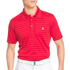 IZOD Short-Sleeve Classic Golf Plaid Jacquard Polo