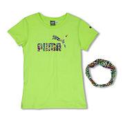 Puma® Short-Sleeve Tee with Headband - Preschool Girls 4-6x