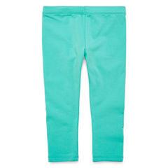 Okie Dokie Pattern Knit Leggings - Baby Girls