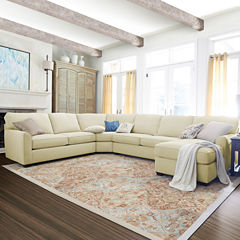 Fabric Possibilities Sharkfin-Arm 4-pc. Right-Arm Loveseat/Chaise Sectional