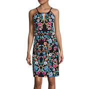 nicole by Nicole Miller® Sleeveless Printed Halter Dress