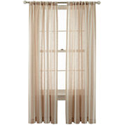 MarthaWindow™ Portrait Stripe Rod-Pocket/Back-Tab Curtain Panel