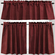 Park B. Smith Cortina Rod-Pocket Kitchen Curtains