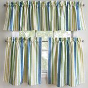 Park B. Smith Cape Cod Striped Rod-Pocket Kitchen Curtains