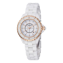 Stuhrling Womens White Bracelet Watch-Sp12493