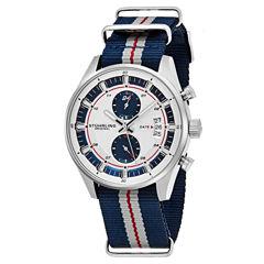 Stuhrling Mens Blue Strap Watch-Sp16361