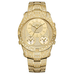 JBW Jet Setter III 18k Gold-Plated Stainless Steel 1.50 C.T.W Diamond Accent Mens Gold Tone Bracelet Watch-J6348a