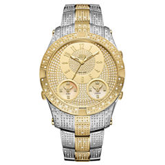 JBW Jet Setter III Stainless Steel 1.50 C.T.W Diamond Accent Mens Two Tone Bracelet Watch-J6348c