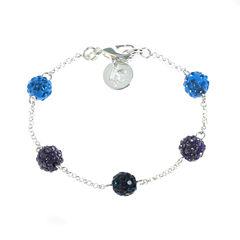 Liz Claiborne Womens Blue Chain Bracelet