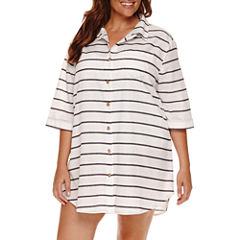 a.n.a Solid Swimsuit Cover-Up Dress-Plus