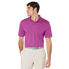 PGA Tour Short Sleeve Solid Mesh Polo Shirt Big and Tall