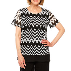 Alfred Dunner Tiered Top