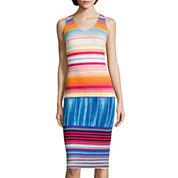 Worthington® Sleeveless Striped Sheath Dress