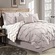 Avondale Manor Ella Striped Reversible 7-pc. Comforter Set