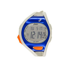Asics White/Blue Ar07 Runner Unisex Multicolor Strap Watch-Cqar0703y