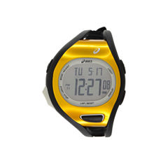 Asics Black/Orange Ar07 Runner Unisex Multicolor Strap Watch-Cqar0705y