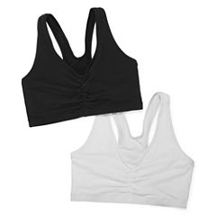 Hanes Comfy Support 2-pk. Wireless Racerback Bra-DHHB70