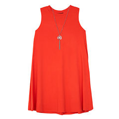 Byer Sleeveless Skater Dress - Big Kid Girls