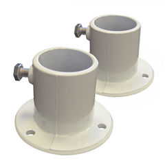 Blue Wave Aluminum Deck Flanges for Above Ground Pool Ladder - Pair