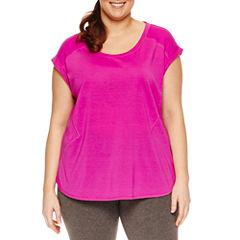 Xersion Short Sleeve Scoop Neck T-Shirt-Plus