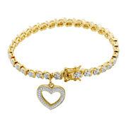 Sparkle Allure White Diamond Charm Bracelet