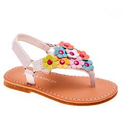 Laura Ashley Girls Flat Sandals - Toddler