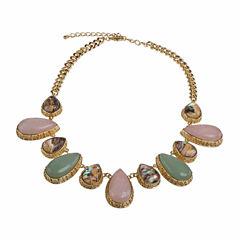 Jardin Womens Multi Color Brass Collar Necklace