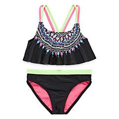 Angel Beach Girls Pattern Bikini Set - Big Kid