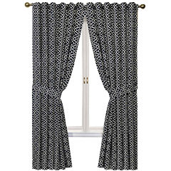 Waverly® Lovely Lattice Rod-Pocket Curtain Panel with Tieback