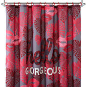 Home Expressions™ Hello Gorgeous Shower Curtain Set