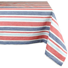 Design Imports Patriotic Stripe Tablecloth