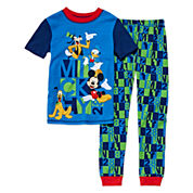 Disney Collection 2-Pc. Short-Sleeve Cotton Pajama Set