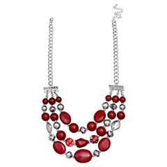 Mixit Clr 0717 Red Beaded Necklace