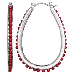 Mixit Clr 0717 Red Hoop Earrings